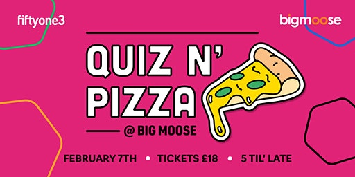 Pizza and Quiz at Big Moose Coffee