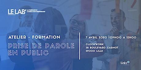 Atelier Formation #Lille | Prise de parole en public | Le LAB' billets