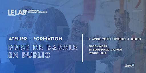 Atelier Formation #Lille | Prise de parole en public | Le LAB'