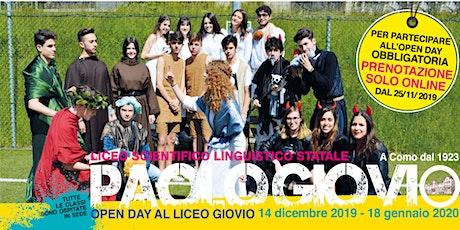 Liceo Giovio - OPEN DAY gennaio a.s. 2019/2020 biglietti