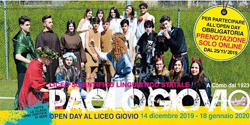 Liceo Giovio - OPEN DAY gennaio a.s. 2019/2020