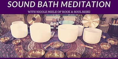 March Sound Bath Meditation at Crystal Reiki