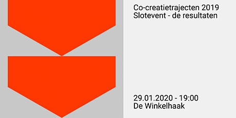 Co-creatietrajecten 2019 - Slotevent: de resultate tickets