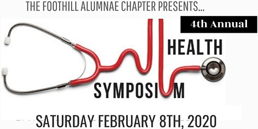 Foothill Alumnae Chapter's 4th Annual Health Symposium Guest Registration