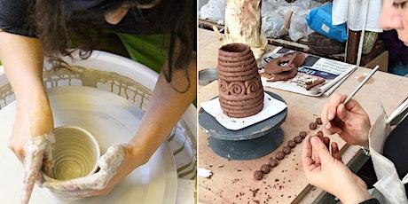 Beginners Intro to Pottery Taster Class Sat 20th Jun (temp) 2020 1-5.30pm tickets