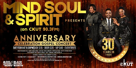 30 Years In 1 Night - Mind Soul & Spirit 30th Anniversary Gospel Concert tickets
