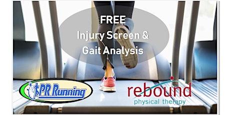 FREE Injury Screening & Gait Analysis tickets