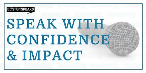 Speak with Confidence & Impact