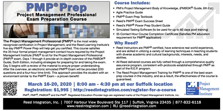 PMP Power Prep - Suffolk, VA - March 16-20, 2020 tickets