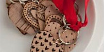 Wooden Heart Key Chains
