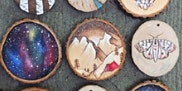Beautiful Worlds - Small Paintings on Wood Rounds