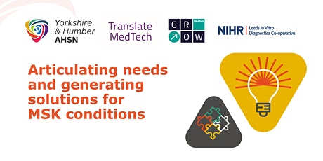 Articulating Needs and Generating Solutions for MSK Conditions tickets