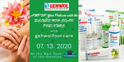 AMP UP Your Pedicure and Manicure Service with the DELUXE NON-SOAK MED PEDICURE GEHWOL Foot Care at the Nail Tech of the Smokies