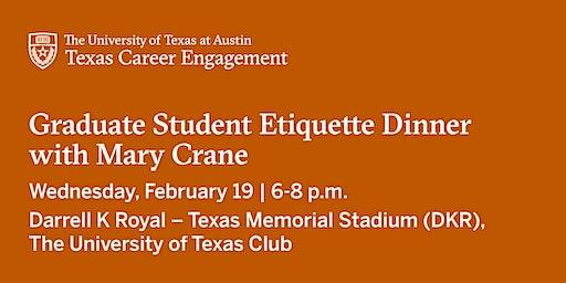 Graduate Student Etiquette Dinner