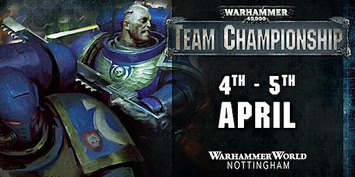 Warhammer 40,000 Team Championship April 2020