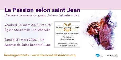 Bach : La Passion selon saint Jean tickets