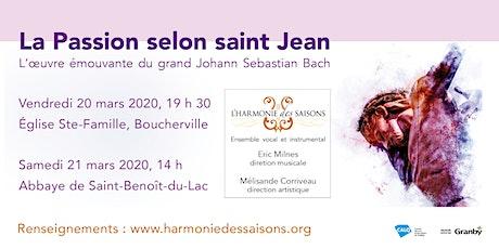 Bach : La Passion selon saint Jean billets
