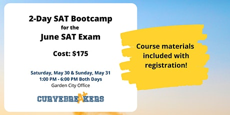 2-Day SAT Bootcamp for the June SAT Exam tickets