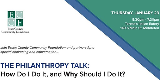 THE PHILANTHROPY TALK: How Do I Do It and Why Do I Have To?
