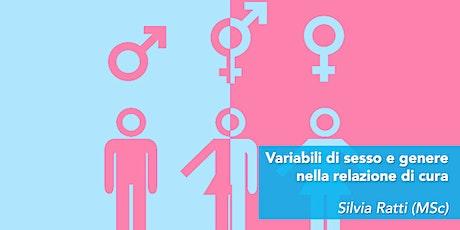 Variabili di sesso e genere nella relazione di cura biglietti