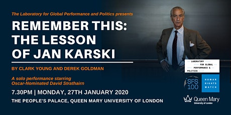 London Premier of Remember This: The Lesson of Jan Karski tickets