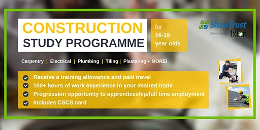Construction Study programme for 16-19 year olds in SOUTH TYNESIDE