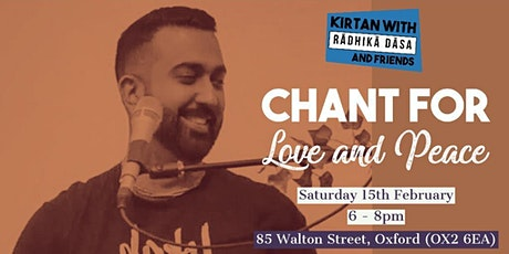 Chant for Love and Peace, Oxford tickets
