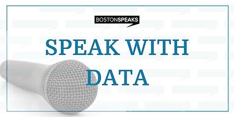 Speak with Data tickets