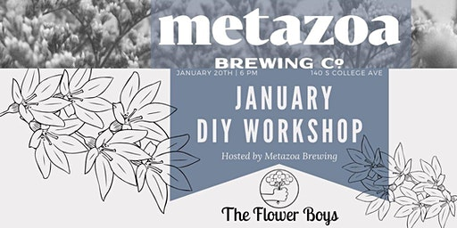 Wintery White Floral Workshop @ Metazoa (Drink Included)