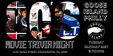 80's Movies Trivia at Goose Island Philly tickets