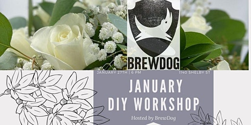 Wintery White Floral Workshop @ BrewDog (Pint Included)