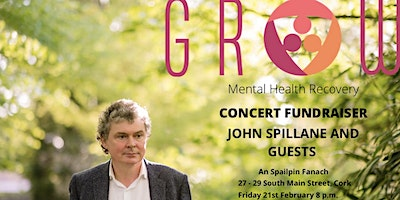 John Spillane Charity Gig in aid of GROW Mental Health Recovery