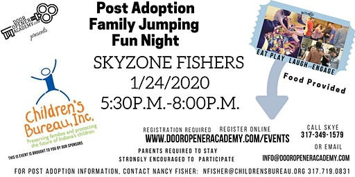 Post Adoption Family Jumpin' FUN Night Sky Zone Fishers