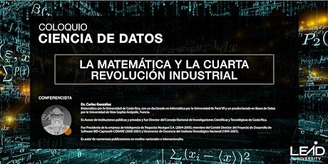 Coloquio Ciencia de Datos - La Matemática y la 4ta Revolución Industrial entradas