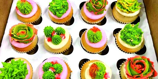 Succulent Cupcake Decorating by Sara's Sweets