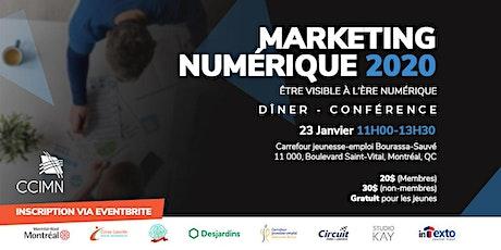 Marketing numérique 2020 - être visible à l'ère numérique tickets