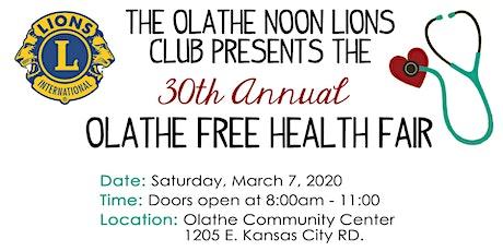 30th Annual Olathe Free Health Fair tickets
