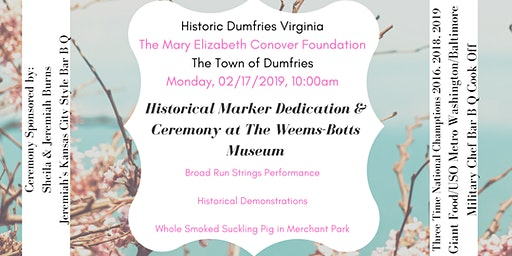 Historical Marker Dedication and Ceremony