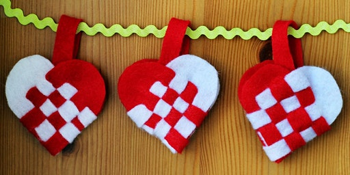 Family Workshop: Woven Felt Heart Baskets