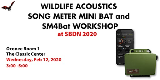 Wildlife Acoustics Song Meter Mini Bat and SM4BAT Workshop at SBDN