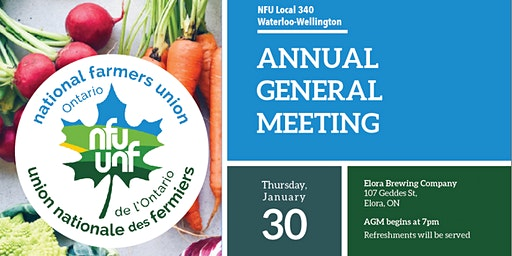 Local 340 AGM -Food, Friends, Drinks and Inspiration!