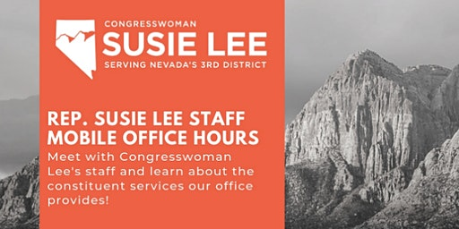 Rep. Susie Lee Staff Mobile Office Hours - Downtown Henderson