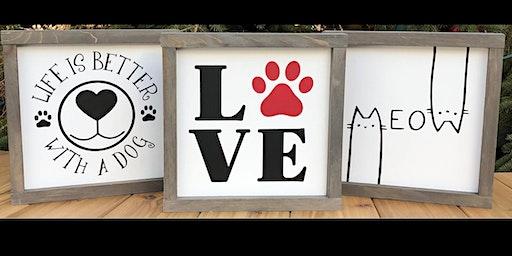 Pets Alive Niagara's Sign Making Workshop