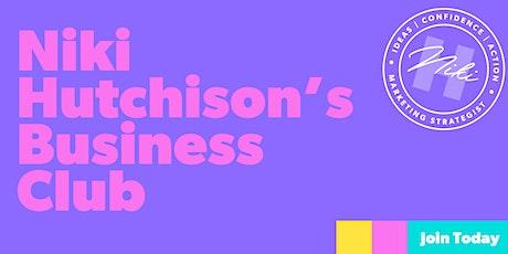 Niki Hutchison's June Business Club tickets