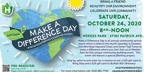 Make a Difference Day 2020 Clean-up Event tickets