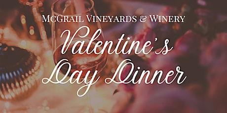 Valentine's Day Dinner at McGrail Vineyards tickets