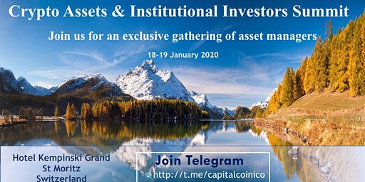 SWISS CRYPTO ASSETS & INSTITUTIONAL INVESTORS SUMMIT 18-19 JAN 20, STMORITZ
