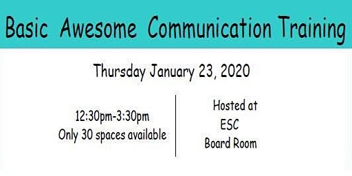 Basic Awesome Communication Training