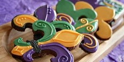 Mardi Gras Royal Icing Sugar Cookie