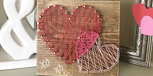 DIY Valentines String Art Class